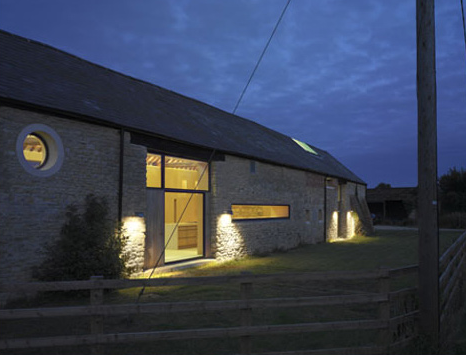 Simon Condor Architects transformed a group of farm buildings into this beautiful family home.  Source