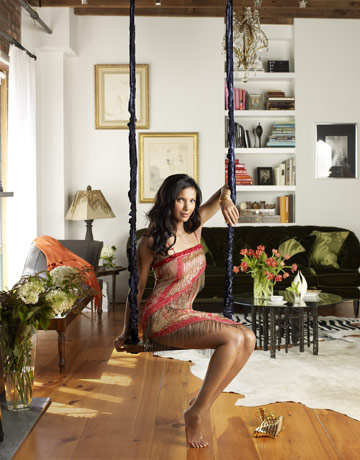 In my opinion, if it's good enough for Padma's house, it's likely good enough for mine. Ms. Lakshmi is sitting pretty in a swing in her flat, which was featured in Harper's Bazaar. Source