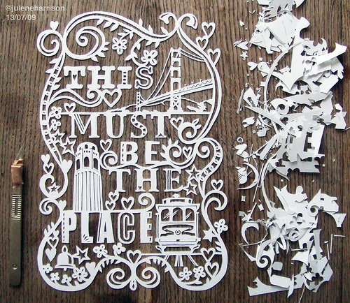 Cool Idea: Julene Harrison's Papercut Artwork