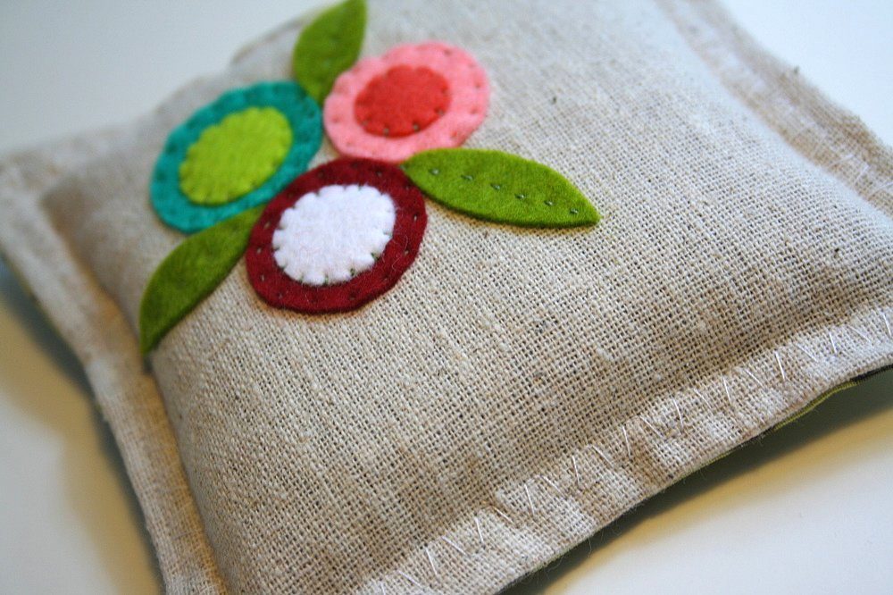 Embroidered Linen Sachets