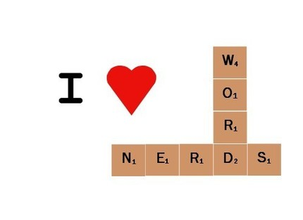 Do I heart word nerds? Heck, I am one! Spread the word nerd joy with this I Heart Word Nerd Card ($2). It's printed on bright white recycled cardstock, with a black interior.