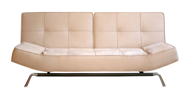Save big money on Overstock.com'sAlton Split-Back Convertible Sofa ($699.99). It's made of microfiber and folds down to accommodate two people.