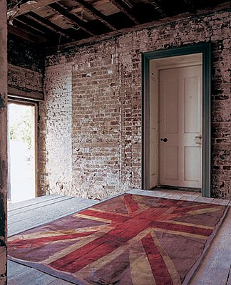 Vivienne Westwood's VW Flag Rug ($4,125) adds drama to any doorstep.