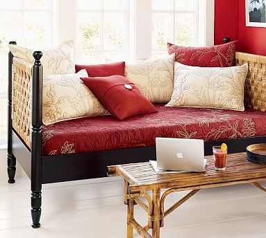 I love the woven side panels featured on the Caden Daybed ($849.99).