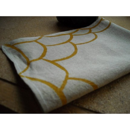 Ficelles Tea Towel ($13) is a simple, pretty design printed on a natural undyed linen towel with water-based colors.