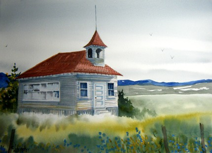 Montana School House ($33) is an original watercolor at a rock bottom price. Snap it up before someone else does!