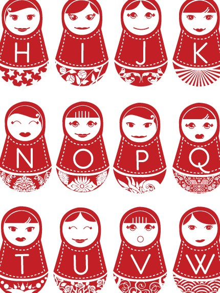 Have an affinity for Matryoshkas? Satisfy your love for the nesting dolls with theRussian Doll Alphabet Poster ($40).