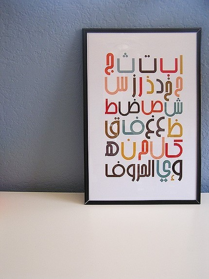 Are you in a Middle Eastern studies class? Then brush up on your Arabic with the Modern Arabic Alphabet Poster ($5).
