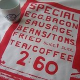 Tell your guests what's on the menu with the Full English Breakfast Tea Towel ($14).
