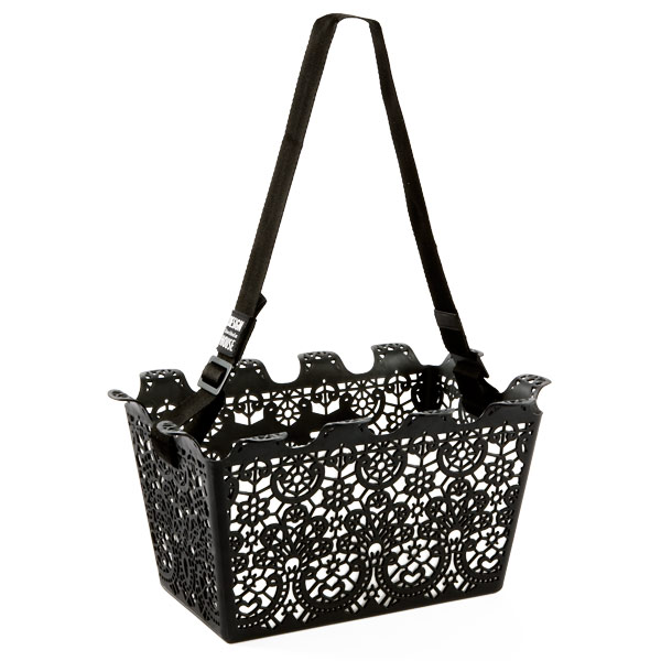 Use the Lace Shopping Basket ($24.99) to store books and magazines, as a file folder, or to bring some spring fashion to the supermarket.