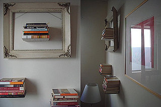 Cool Idea: Floating Bookshelves Framed