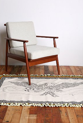 Add some boho flair to your floors with this 3x5 Crochet Eagle Rug (on sale for $29.99, was $58.00). It's exhibiting a total hippie warrior vibe, but in a way that could work in the right home. Is that home yours?