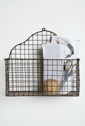 Add a quick, convenient, and charming mail nook to your entryway with this Double Wire Basket (on sale for $29.99, was $36.00).