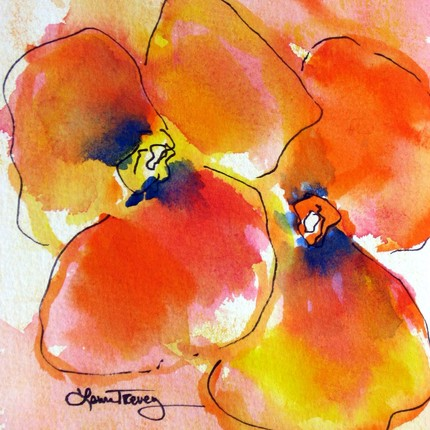 Add some bold florals to your wall with this Bright Orange Original Watercolor Painting ($30).
