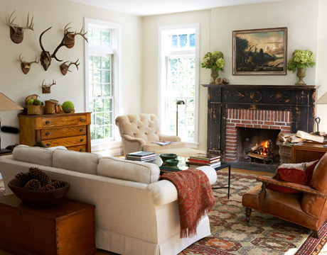 Rustic Living Room Ideas on In This Home  The Rustic Chic Look Throughout The Home Means That The