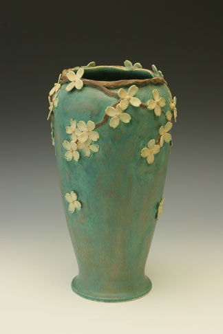 Update the blossom vase with Whitney Smith's Dogwood Flower Vase ($1200).
