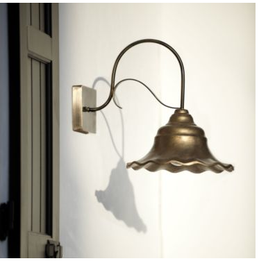 With night time coming earlier every night, invest in a pretty porch lamp. This Braleigh Outdoor Sconce (on sale for $89.99) ha a gorgeous floral look, and is made from sturdy steel that's been given an antique brass finish.