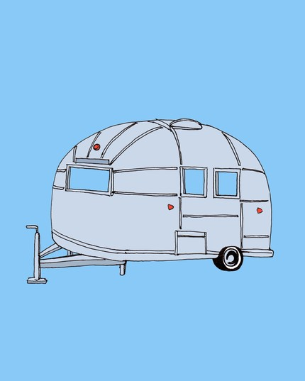 This cheery little Vintage Airstream Print ($12) is just adorably peppy. Don't the reflectors look like little hearts?