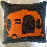 Teach your baby that A is for Airstream with this Wool Felt Alphabet Pillow ($24).