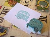 This Happy Trails Rubber Stamp ($8) is a great stamp for kids, or just the young at heart.