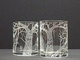 These Troubled Trees Hand-Engraved Glass Votives ($14) are extremely detailed and delicate.