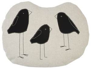 K Studio's Birds Pillow ($110) offers a friendlier take on the raven.