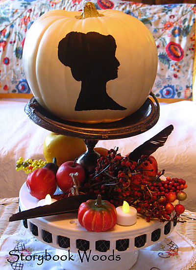 Not a fan of knives and pumpkin guts? Then opt for a painted silhouette. Storybook Woods shows you how to do it.