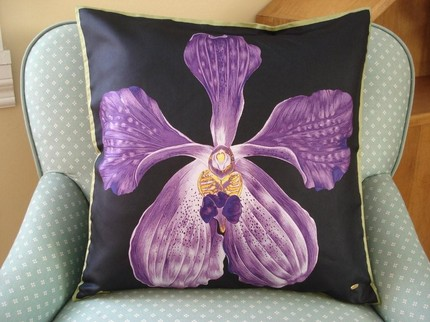 This Vintage Purple Orchid Pillow ($26) is made of 100 percent Thai silk and has never been used. It was designed in the '50s or '60s by the designer for the original Broadway production of The King and I.