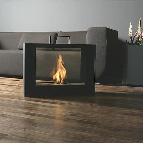 The Conmoto Travelmate Portable Fireplace ($3,300) is a portable, stylish suitcase of black powder-coated steel and glass that holds a smokeless fire, burned from bio-ethanol liquid fuel.
