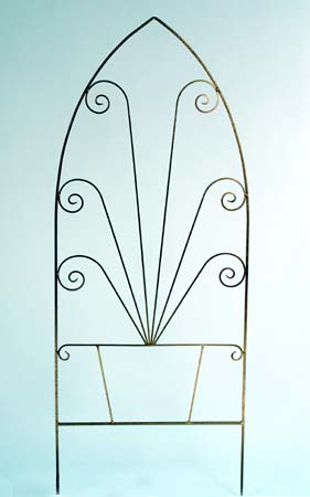 Use this Gothic Scallop Trellis ($113) to display scarves or necklaces on your bedroom wall.
