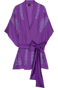 Hang this Carine Gilson Silk Lace-Embellished Robe ($1115) on your wall instead of art, and slip it on when you're ready to impress your honey.