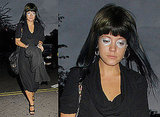 Photos of Lily Allen With Silver Makeup and Miquita Oliver at Nobu in London