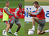 Photos of David Beckham Training With England Squad