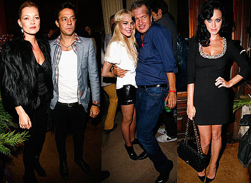 Gallery of Pictures of Kate Moss, Lindsay Lohan, Jamie Hince and Katy Perry At Mario Testino's Book Launch. Paris Fashion Week
