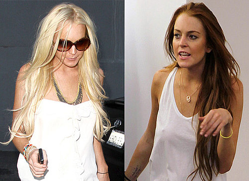 Photos of Lindsay Lohan Dyes her Hair Blonde