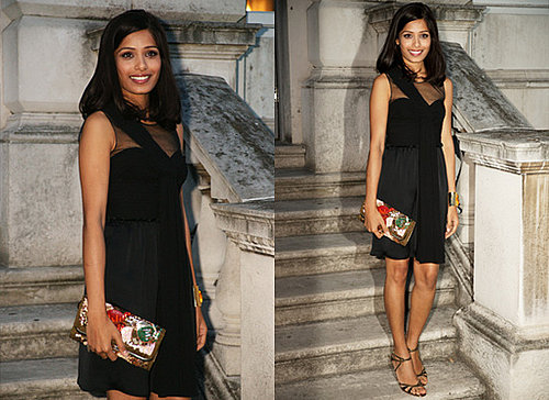 Photos of Freida Pinto in London at Film Four Screening at Somerset House
