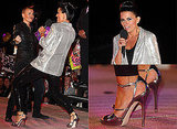 Photos of Davina McCall of the Big Brother Final in Sequined Ensemble