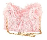 Pink Fur Handbag from River Island Autumn 2009