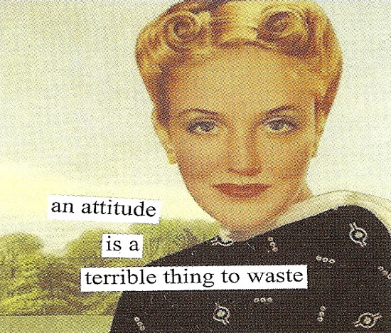 An Attitude Is a Terrible Thing to Waste