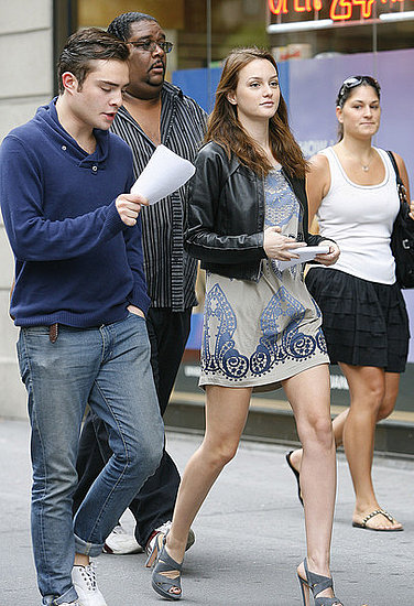 Leighton and Ed on set