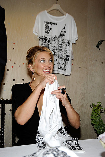 Kate Hudson attends the Stella McCartney shop celebrate fashion night out