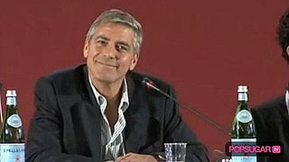 Man Asks George Clooney For a Kiss