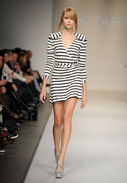 A look from Pink Tartan's Spring 2010 Collection on 10/21/09