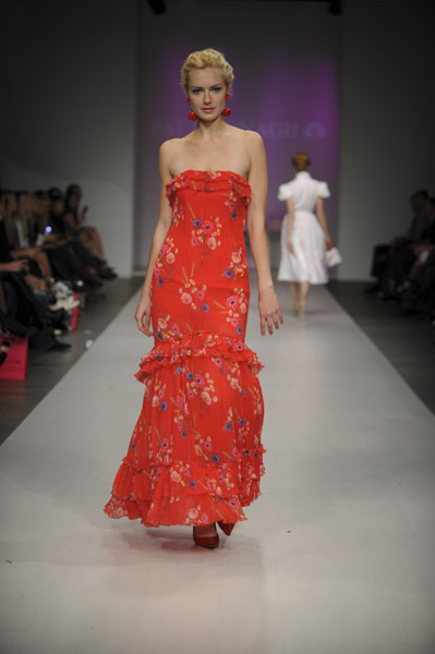 A look from Pat McDonagh's Spring 2010 Collection on 10/23/09