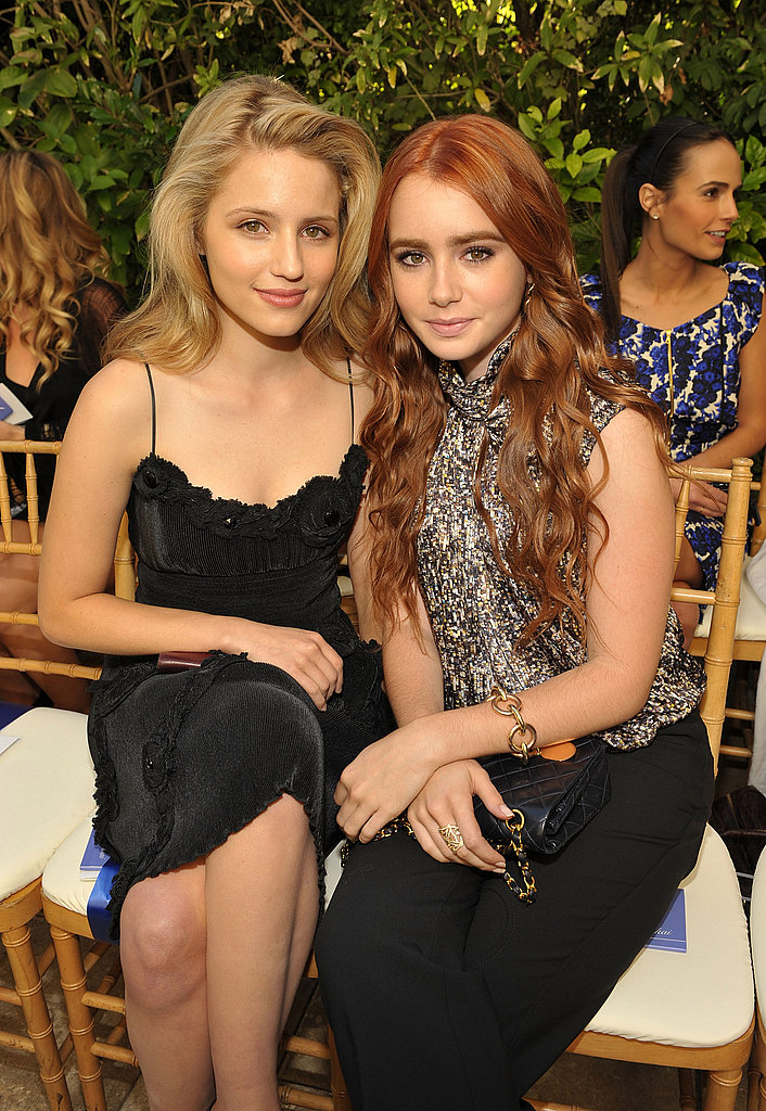 Dianna Agron and Lily Collins
