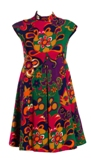 Floral mod print cotton twill dress by Geoffrey Beene 1960s