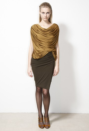 Donna Karan Uses Rich Color in her Classic Silhouettes for Pre-Fall 2010