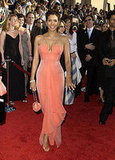 Halle Berry in Orange Sherbert Armani