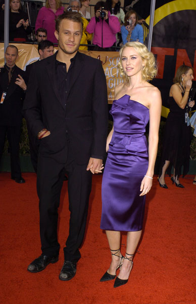 Naomi Watts in Purple Satin Roland Mouret