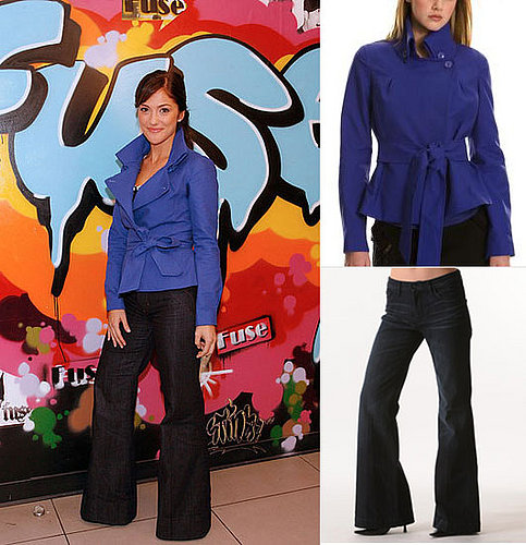Found! Minka Kelly's Wrap Jacket and Wide-Leg Jeans